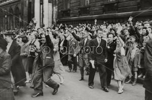 Churchill jubles velkommen, 1950
