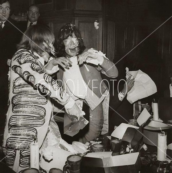 Rolling Stones lunchparty I, London 1968.