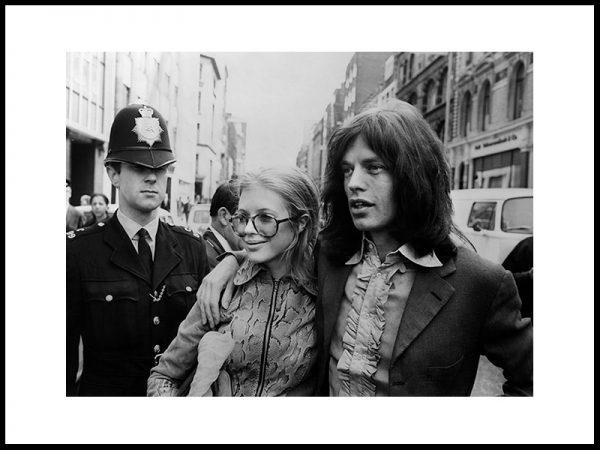Marianne Faithfull og Mick Jagger, London 1969