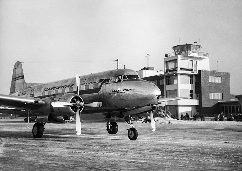 Fornebu. SAS Gardar Viking And The Control Tower