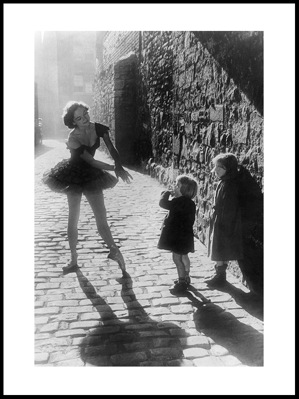 Ballerina Dancing In A Back Street Of Edinburgh, 1953