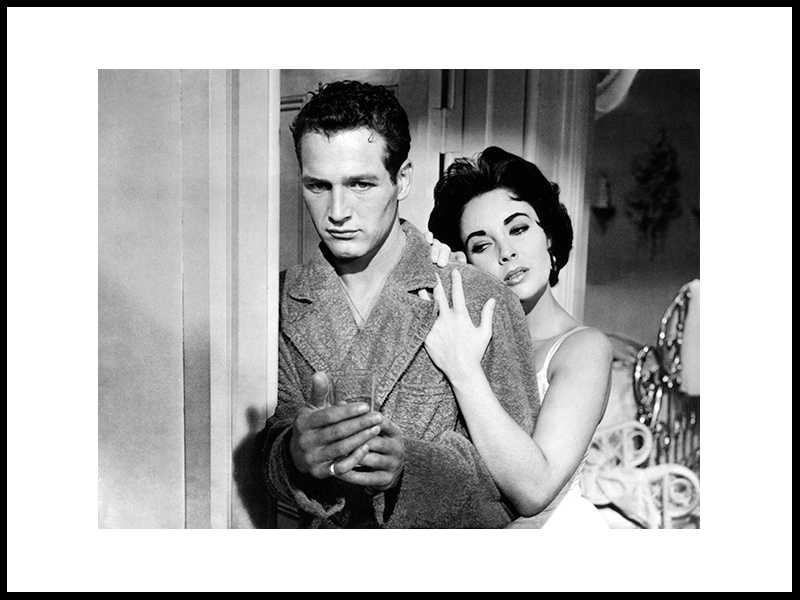 Paul Newman And Elizabeth Taylor, 1958