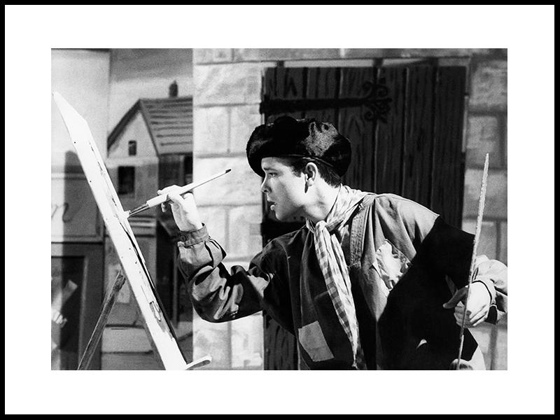 Cliff Richard som maler i filmen Summer Holiday, 1962