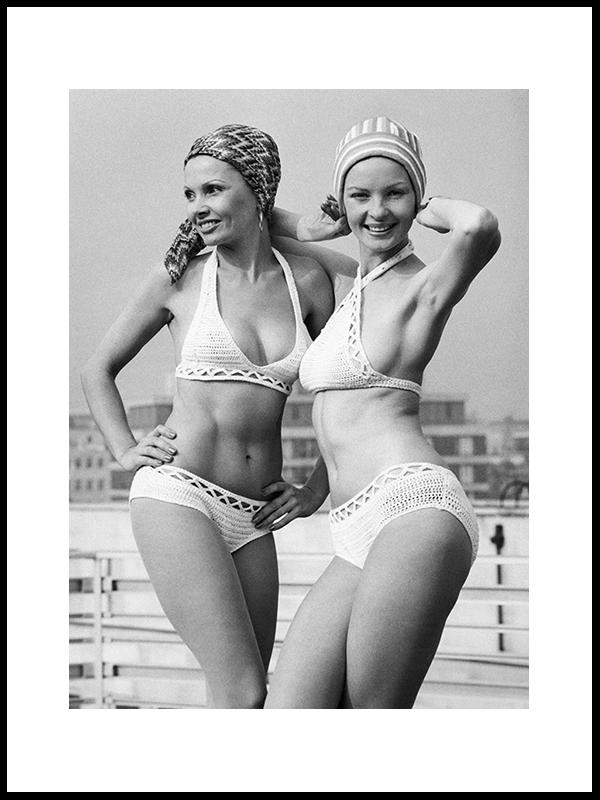 Svømme Hatter, London, 1972
