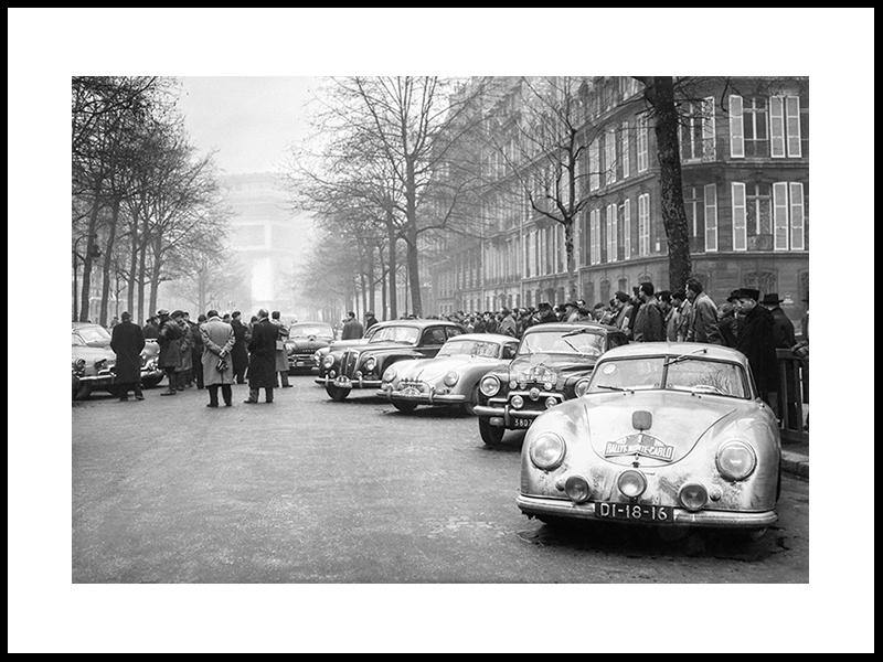 Monte Carlo Rally Arrives In Paris, 1953