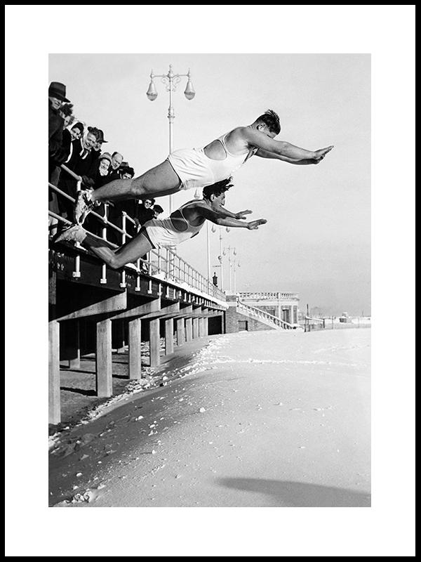 Snøfulger Som Flyr, New York, 1947