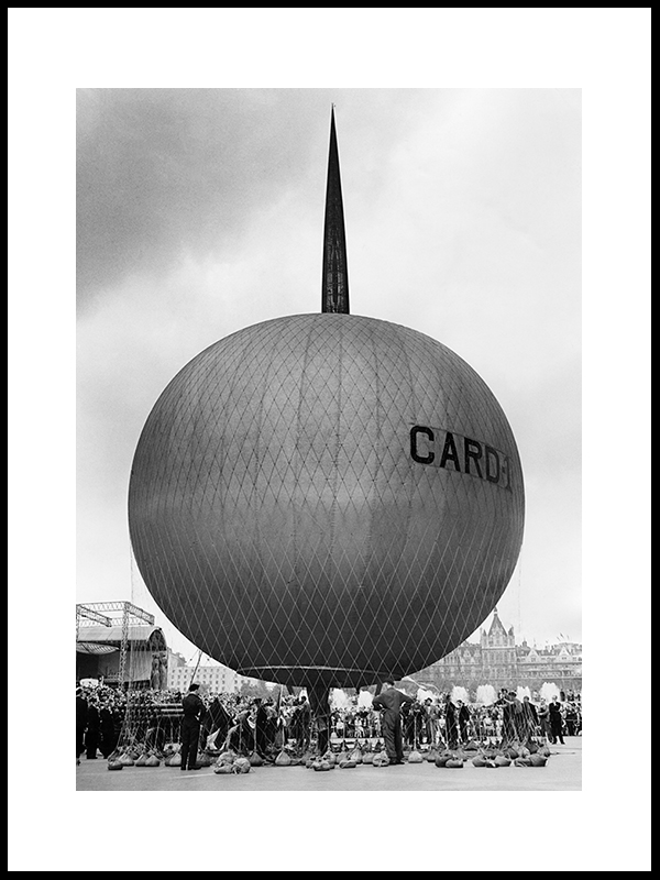 Ballon Flight By South Bank Exhibition, London 1951