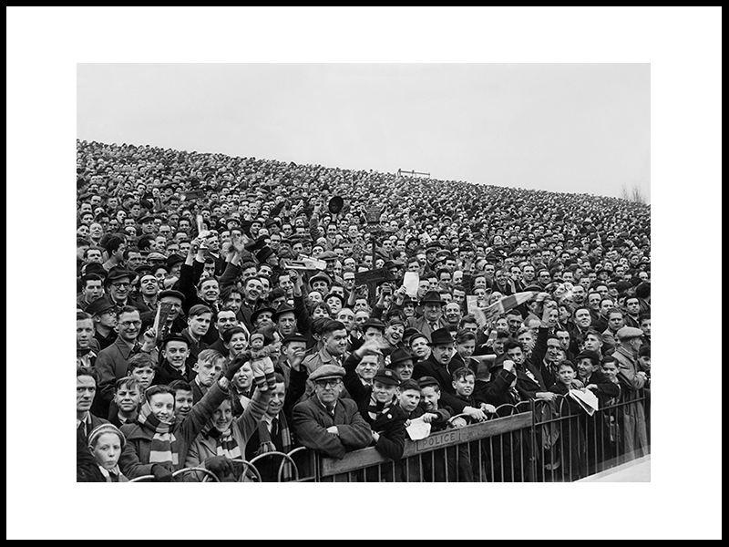 Arsenal – Leeds United, Highbury Stadium, 1950