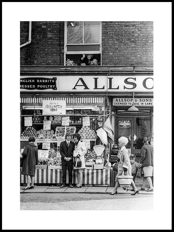 Under «the Wedding Window», England 1969.
