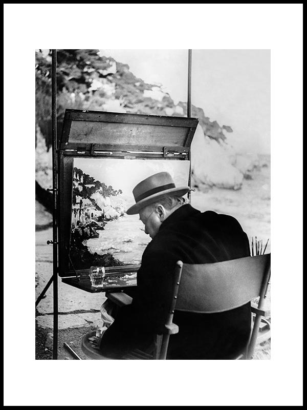Churchill At Villa La Cappouchina, 1949