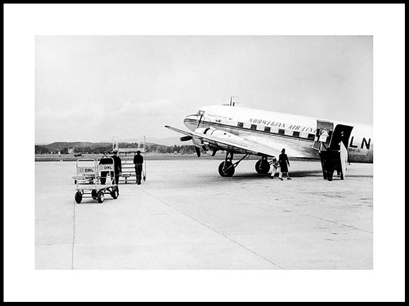 Fornebu. An Arrival, 1950s