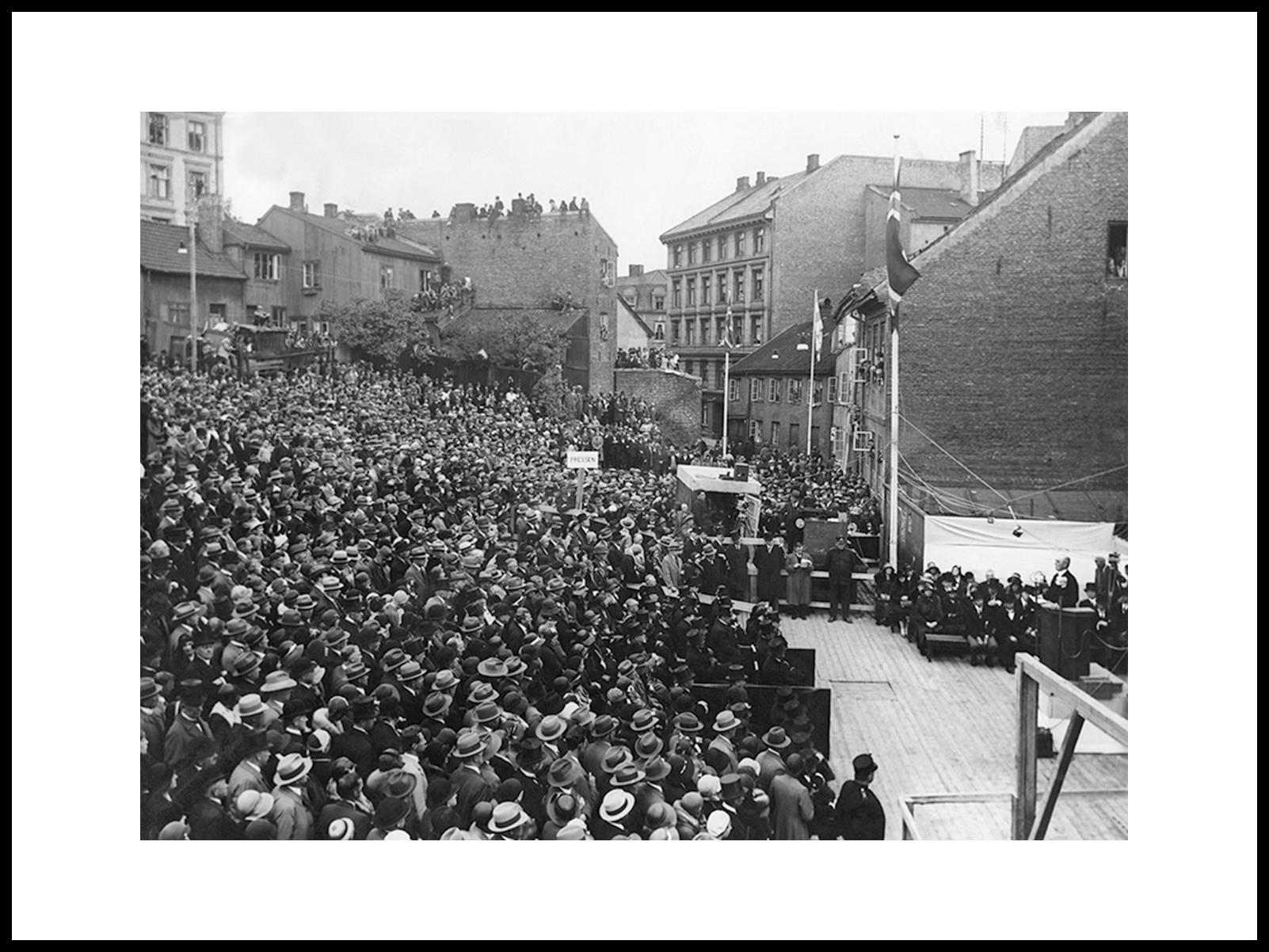 Grunnstensnedleggelsen For Oslo Rådhus 1931